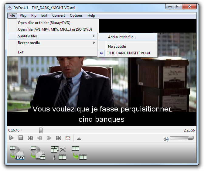 Dvdx 41 create mp4 movie with subtitles mp4movpsp from the file menu choose open file then subtitle files menu and add subtitle file ccuart Image collections