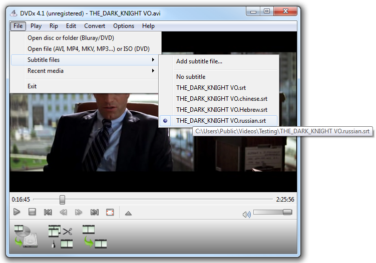 Dvdx 41 create mp4 movie with subtitles mp4movpsp select subtitles file in the player ccuart Image collections