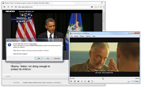 Full-featured media player with web browser!